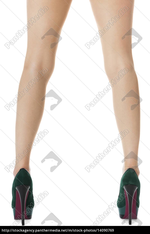 attractive, female, legs, with, green, stilettos - 14090769