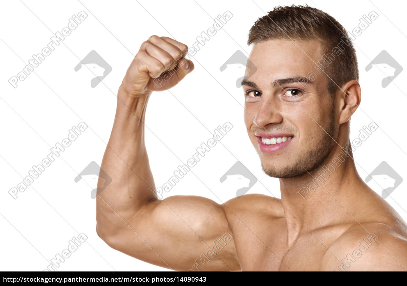 biceps, muscle, of, young, man - 14090943