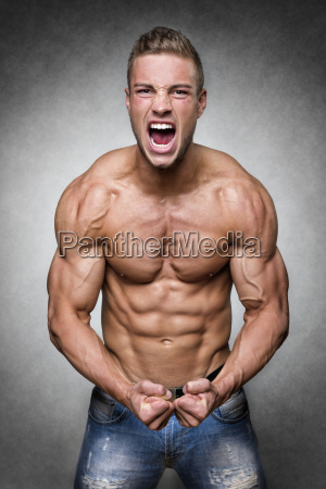 screaming, athlete - 14090879