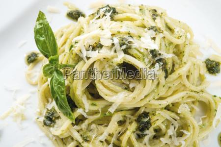 pasta, with, pesto, alla, genovese - 14092313