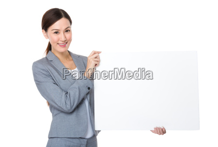 asian, businesswoman, show, with, white, board - 14093445