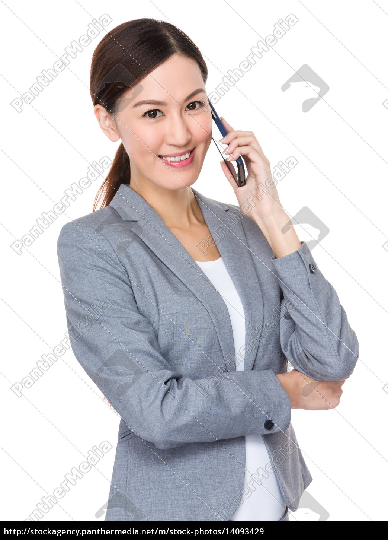 asian, businesswoman, talk, to, cellphone - 14093429