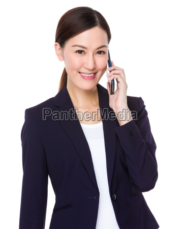 businesswoman, talk, to, mobile, phone - 14093409