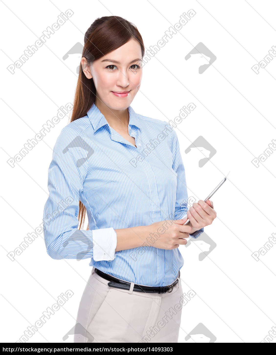 businesswoman, with, tablet - 14093303