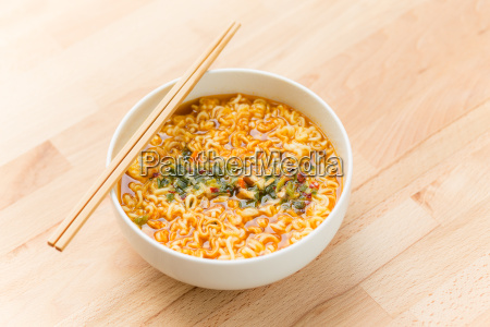 instant, noodles, on, wood, baord - 14093677