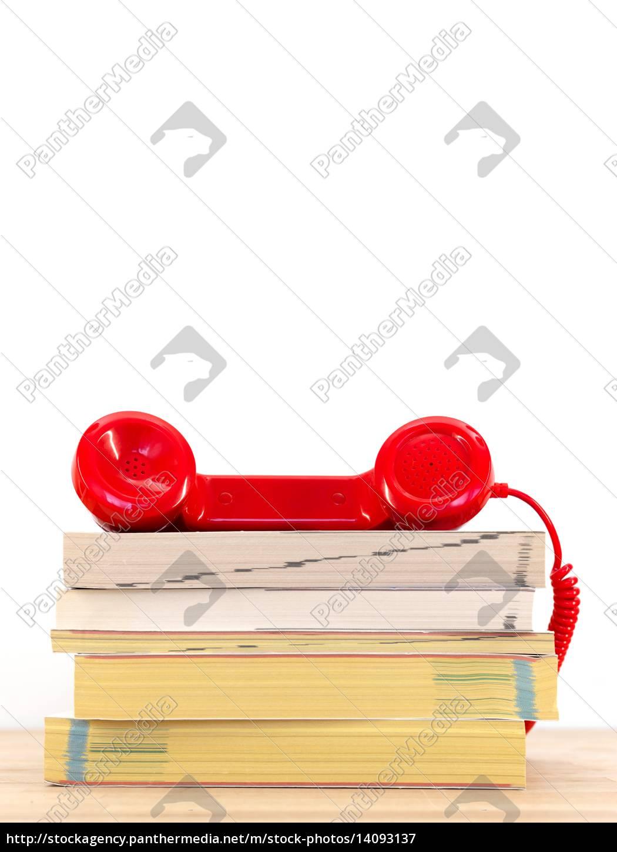 telephone, books - 14093137