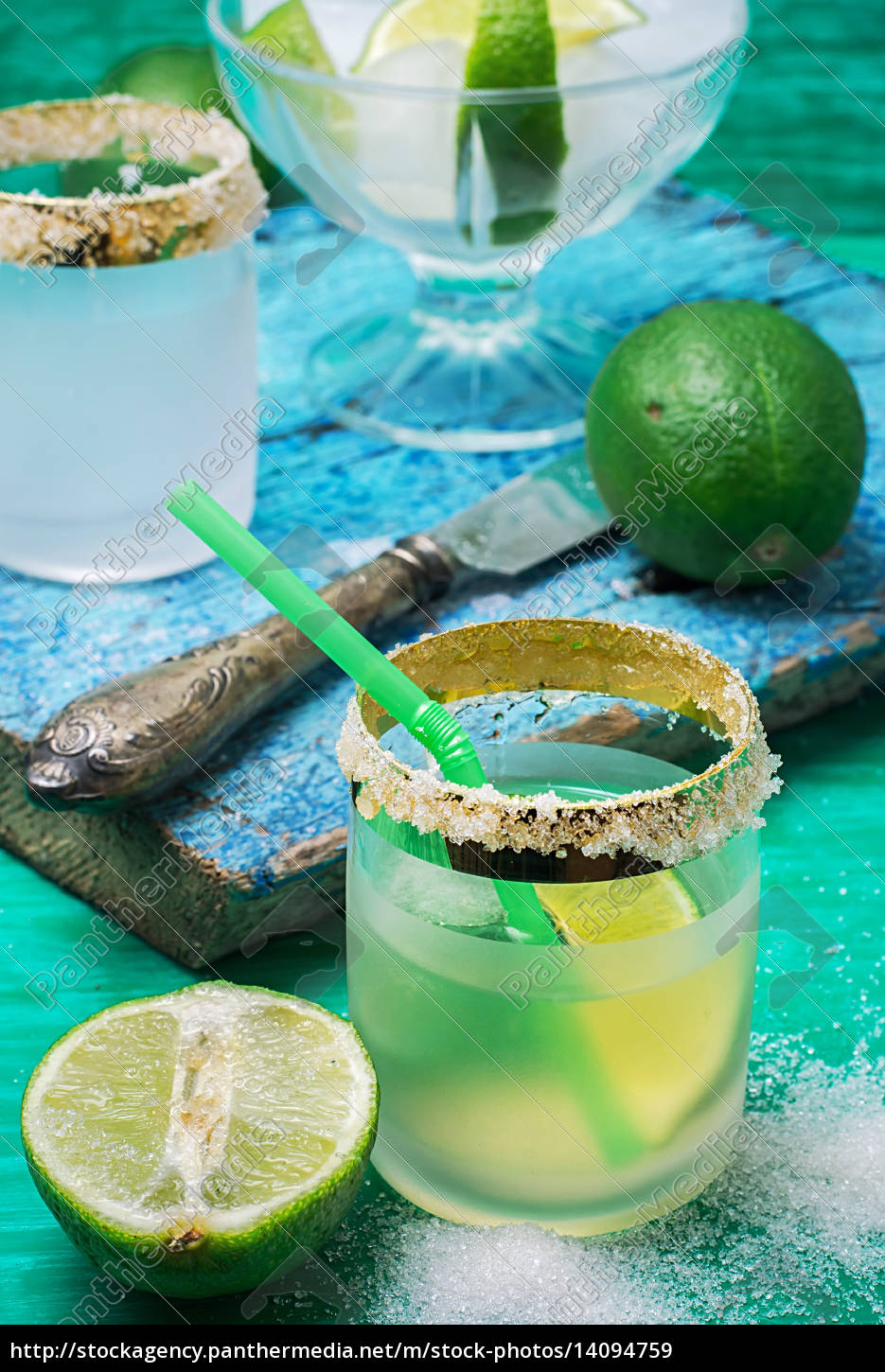 refreshing, cocktail, made, of, rum, and - 14094759