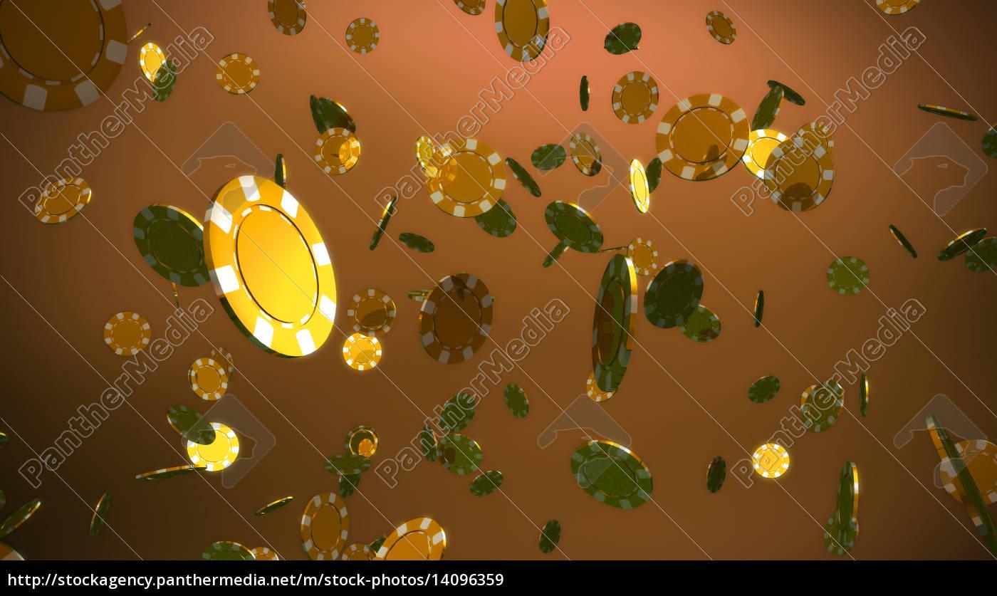 golden, casino, chips, brown, background - 14096359