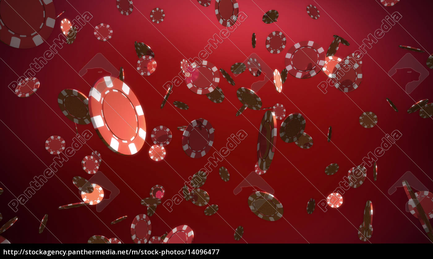 red, casino, chips, red, background - 14096477