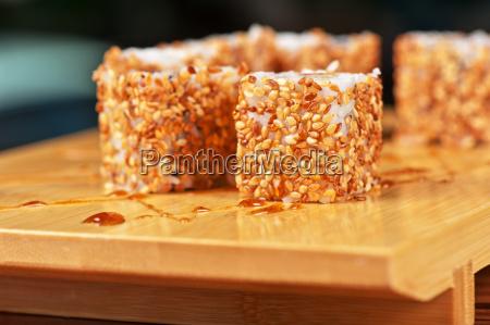 sesame, sushi, rolls - 14097215