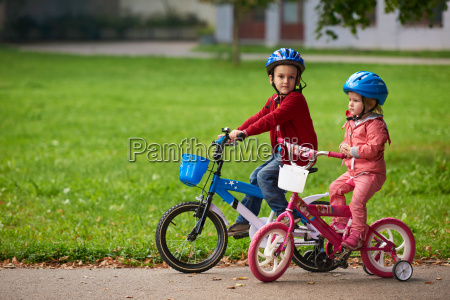boy, and, girl, with, bicycle - 14098895