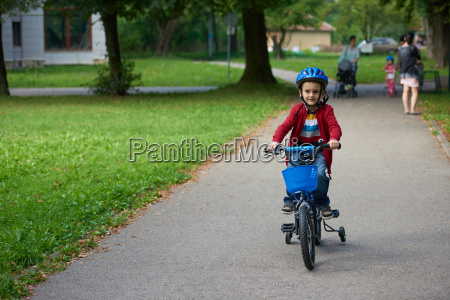 boy, on, the, bicycle, at, park - 14098899