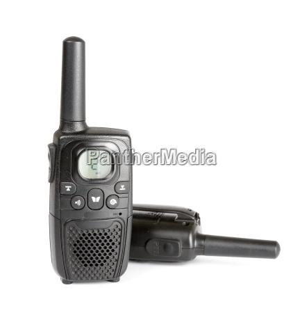 black, personal, radio, isolated, on, white - 14099539