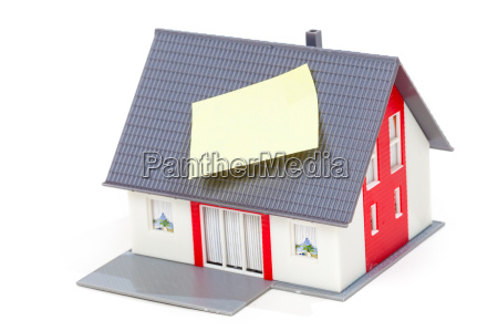 nice model house with note on