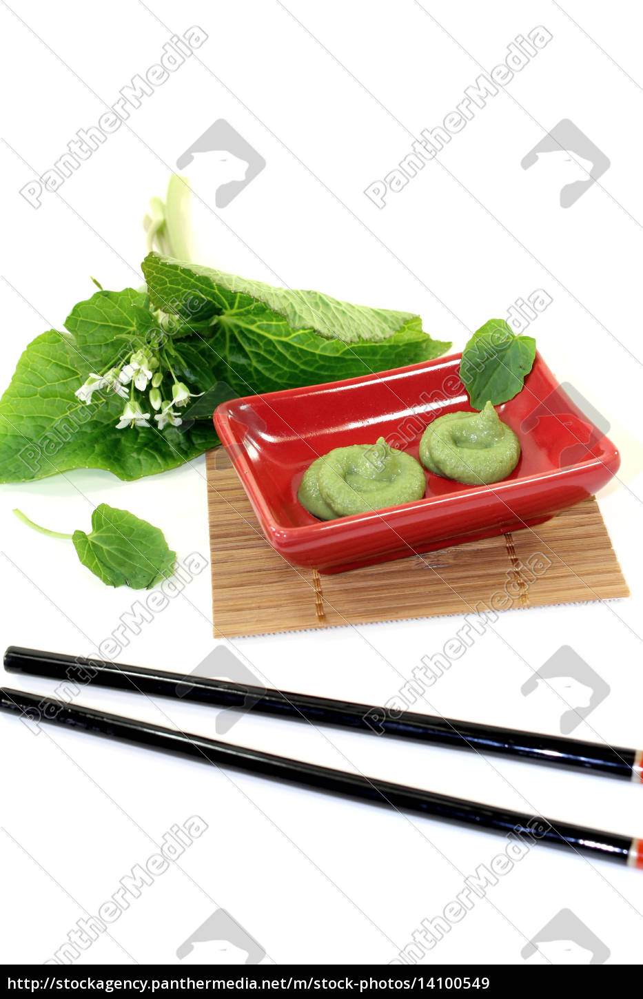 wasabi, with, leaf, and, flower - 14100549
