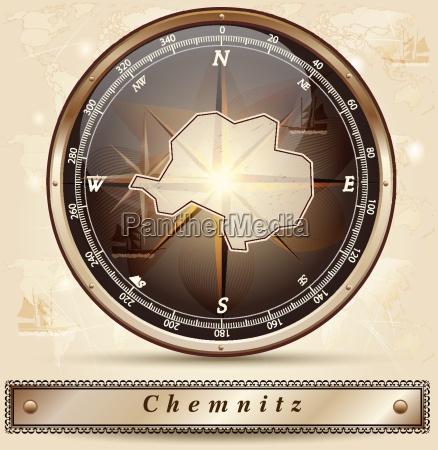 map of chemnitz