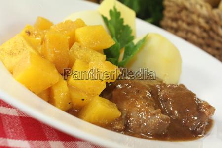 wild goulash with turnips