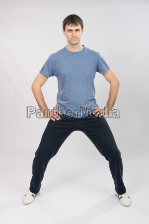 young man physically kneaded