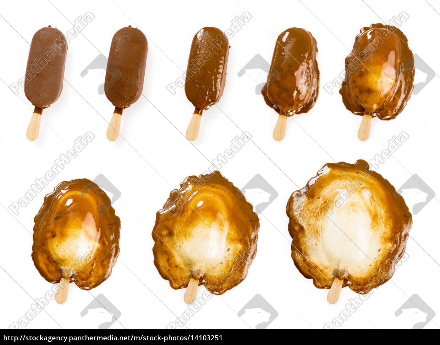 melting, chocolate, and, vanilla, ice, cream - 14103251