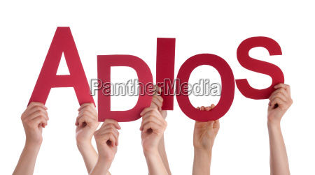 people, holding, spanish, word, adios, means - 14103493