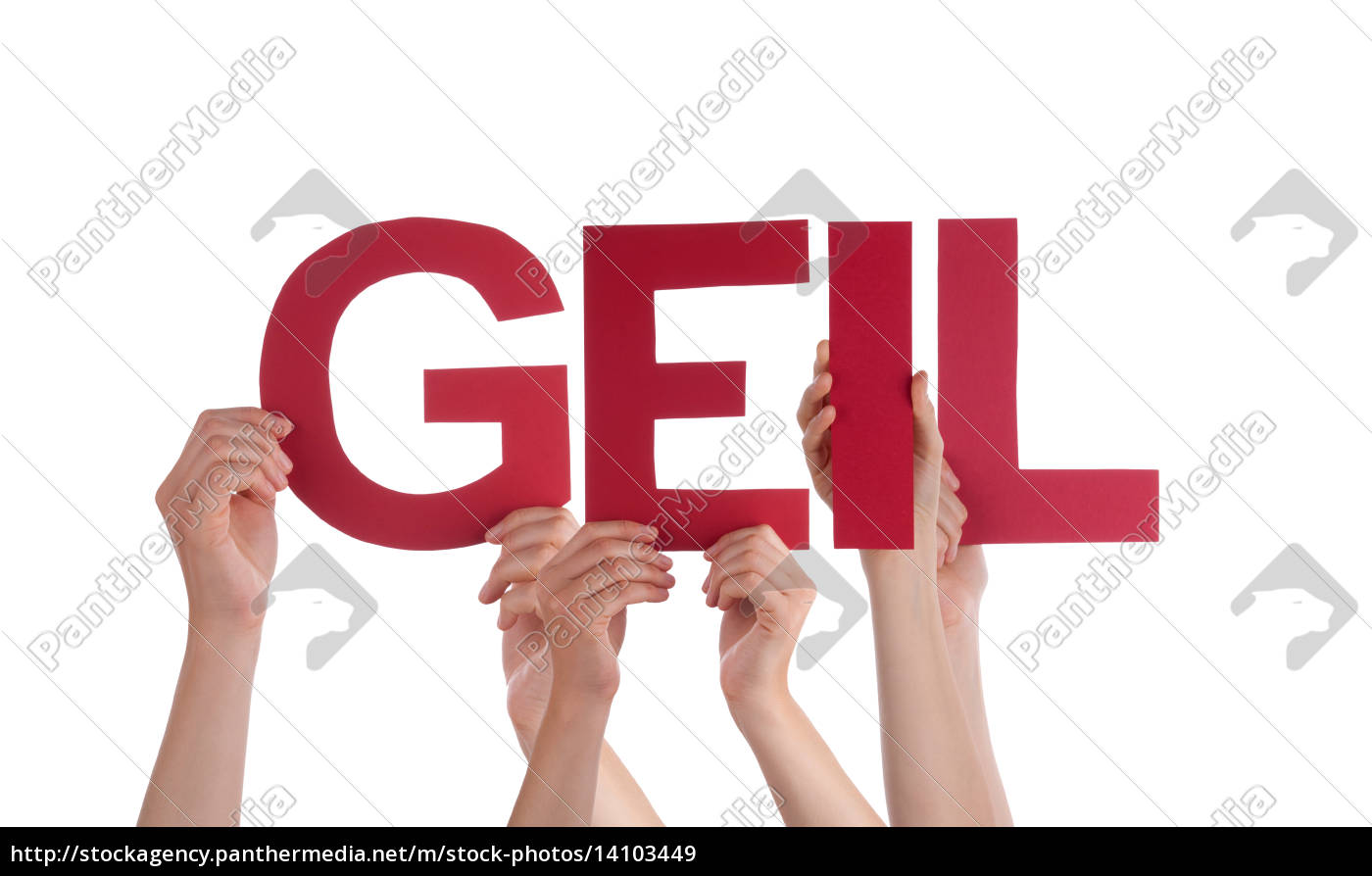 people, holding, straight, , word, geil - 14103449