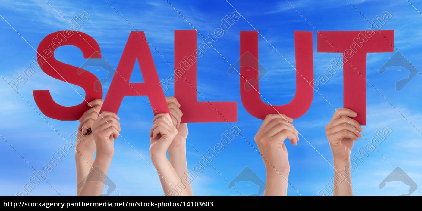 people, straight, word, salut, mean, hello - 14103603