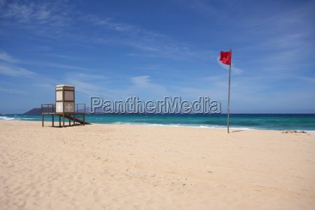 flag, booth, canary islands, lifeguard, bathing ban, level - 14107997