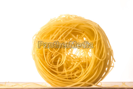 one ball of angels hair pasta