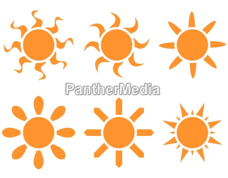 vector set the sun in different