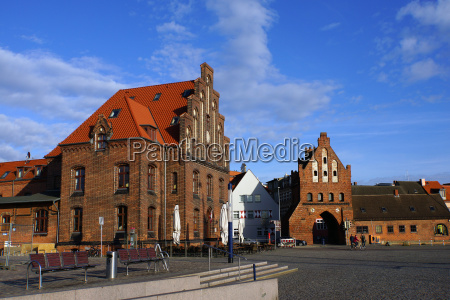 old customs house and wassertor wismar