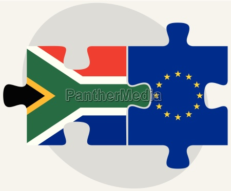 south africa and european union flags