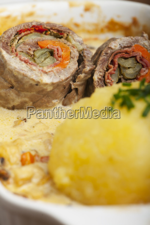 bavarian meat roulade with lump