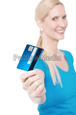 shop with new credit card