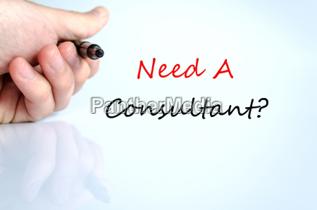 need a consultant concept