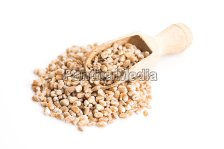 pile of pearl barley isolated on