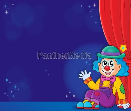 sitting clown theme image 5