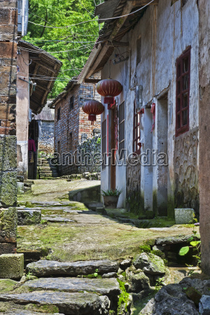 xiongcum ancient village near guilin china
