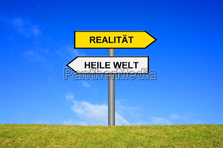 signpost reality healing world