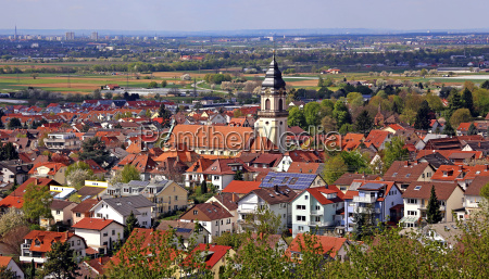 panorama of dossenheim on the mountain
