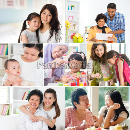 collage photo of mothers and offsprings