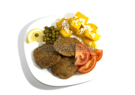 vegetarian food on a white plate