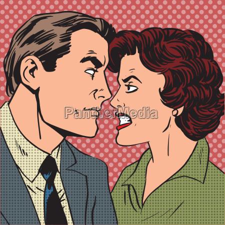 conflict man woman family quarrel love