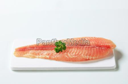 comida primer plano pescado congelado trucha