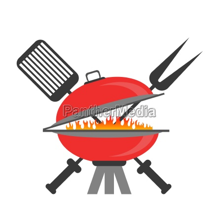 barbeque icon isolated on white backround