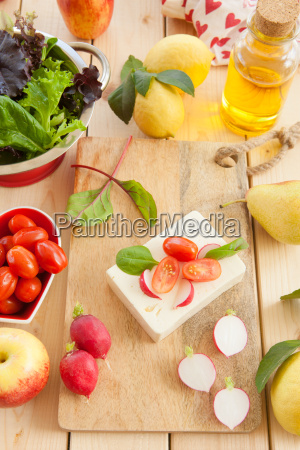 feta cheese with fresh ingredients