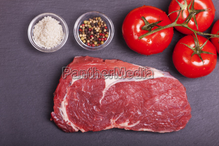 raw juicy beef steak