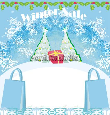 winter sale card