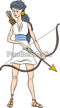 dibujos animados de diosa griega diosa