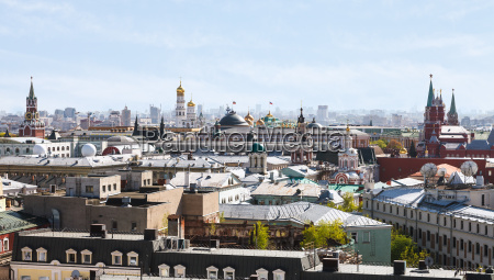 historic center of moscow city with