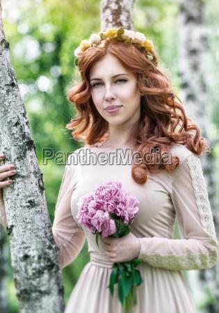cute dreamy bride portrait